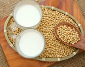 Soybean, soymilk, nutrition beverage — Stock Photo