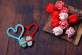 Valentine background, Feb 14, i love you — Stock Photo