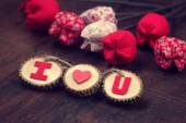 Valentine background, I love you message — Stock Photo