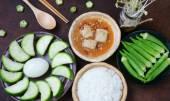 Vietnamese food, vegetarian, diet menu — Stock Photo