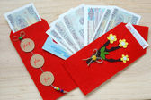 Vietnam Tet, red envelope, lucky money — Foto Stock