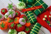 Vietnam Tet, banh tet, banh chung, Happy New Year — Stock Photo