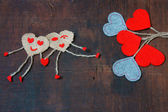 Valentine day, symbol of love, red heart — Stock Photo