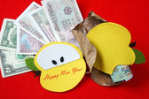 Vietnam Tet, red envelope, lucky money — Foto de Stock