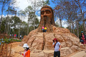 Dalat, Vietnam tourism, sculpture tunnel  — Stock Photo