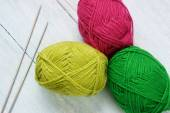 Knit, ball of wool, handmade present — Stockfoto