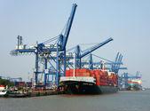 Transportation, export, import, Ho Chi Minh port — Stock Photo