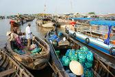 Cai Rang floating market, Mekong Delta travel — Stock Photo