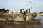 Cai Rang floating market, Mekong Delta travel — 图库照片