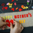 Happy mothers day, make gift for mom — Stock Photo #70882329