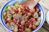 Grape wine, grape fruit, alcoholic fermentation — Stock Photo