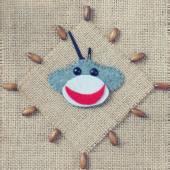 Monkey, happy new year 2016, time, clock, handmade — Stock Photo
