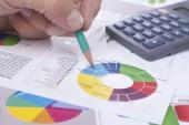 Creating statistics — Stok fotoğraf