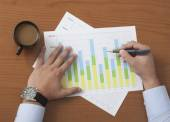 Project Manager analyze Data — Stock Photo