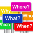 Where? What? Why? Whitch? When? Who? — Stock Photo #60247623