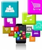 Smart Phone and Programs — Stock Photo