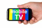 Television on the Smart Phone — Stock Photo