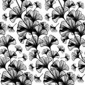 Ginkgo biloba leaves pattern — Stock Vector