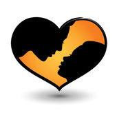 Man and woman heart shaped — Stock Vector