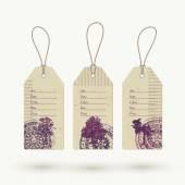 Eco friendly sale tags — Vector de stock