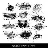 Liquid ink stains — Stock Vector