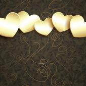 Golden hearts design — Stock Vector