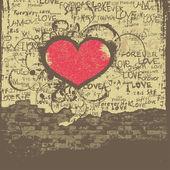 Love Valentine design — Stock Vector