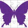 Puzzle and butterfly — Stock Vector #65591961