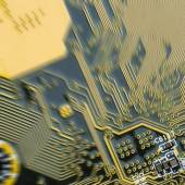 Background of printed circuit board with motion blur — Photo
