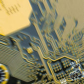 Background of printed circuit board with motion blur — Stock fotografie