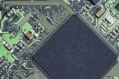 Microchip on printed circuit board  — Стоковое фото