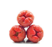 Rose Apples (Syzygium aqueum) Over White Background — Stock Photo
