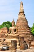 Ancient buddha statue. Sukhothai Historical Park in Sukhothai — Стоковое фото