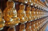 Million of golden Buddha statue in chinese temple Nonthaburi — ストック写真