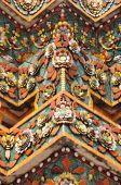 Beautiful detail of pagoda at  Wat Pho , Bangkok, Thailand. — Stock Photo