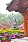 Krásný výhled na Wowoojongsa temple, Jižní Korea — Stock fotografie