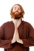 Model praying and wishing — ストック写真