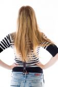 Model with hands on hips — Stock Photo