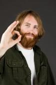 Model gesturing ok sign — Stock Photo