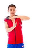 Model gesturing break sign — Stock fotografie