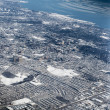 Aerial view of a city after blizzard viewed from CN tower, Toronto, Ontario, Canada — Stock Photo #67391915