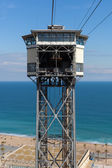 San Sebastian cable car tower — 图库照片