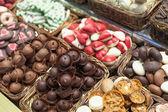 Chocolates at a market stall — Stock Photo