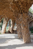 Vaulted Passage In Park Guell — Stock Photo