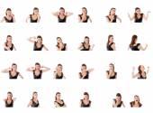 Collage des différentes expressions faciales — Photo