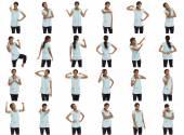 Коллаж различных выражений лица — Стоковое фото