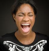 Furious model screaming — Stock Photo
