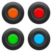 Gloeilamp voor de gebruikersinterface — Stockvector
