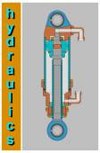 """Poster """"Hydraulics"""" — Stock Vector"""