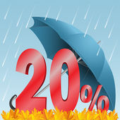 Twenty percent discount — Stock Vector